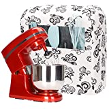 Kitchen Aid Mixer Cover,Cotton Quilted Stand Mixer Dust Cover for Kitchenaid Hamilton Sunbeam Mixers,Small Appliances Cover with Pockets,Compatible with All 6-8 Quart Tilt Head & Bowl Lift Models