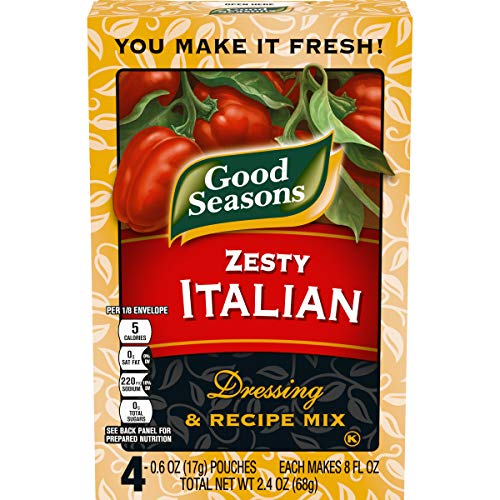 Good Seasons Zesty Italian Salad Dressing & Recipe Mix (0.6 oz Envelopes, Pack of 4)