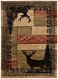 Mayberry Rugs Woodgrain Elk Area Rug, 5'3'x7'3', Multicolor
