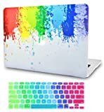 LuvCase 2 in 1 Laptop Case for MacBook Pro 13' (2020/2019/2018/2017/2016) w/wo Touch Bar A2159/A1989/A1706/A1708 Rubberized Plastic Hard Shell Cover & Keyboard Cover (Rainbow Splat)
