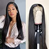 Lace Front Wigs Human Hair Pre Plucked 13x4 Brazilian Straight Human Hair Lace Front Wigs for Black Women 150% Density Natural Hairline Wigs (12 Inch, Straight 13x4 Wig)