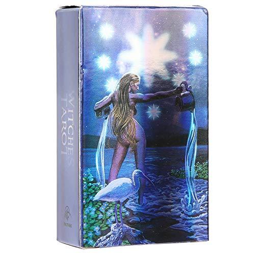 Witch Tarot Cards, 78Pcs English Divination Cards, Flash...