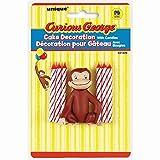 Decorazione per torta e candeline, 6 pezzi, Curious George (etichetta in lingua italiana non garantita)