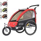Papilioshop Mover Remorque Chariot et Poussette pour Transport 1 ou 2 Enfants...