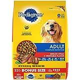 PEDIGREE Complete Nutrition Adult Dry Dog Food Grilled Steak & Vegetable Flavor Dog Kibble, 33 lb. Bag