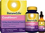 Renew Life Adult Cleanse - CandiSmart - 15-Day Yeast Cleansing Program - 2-Part Kit - Gluten & Dairy Free - 60 Vegetarian Capsules + 1 FL. Oz. Tincture