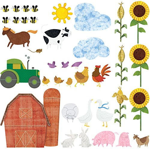 My Wonderful Walls Farm Wall Decals 38 Peel & Stick Farm Theme Stickers for Baby Nurseries and Kids Rooms