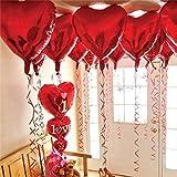 12 + 1 Red Heart Shaped Balloons - 1 I Love U Balloon - Helium...