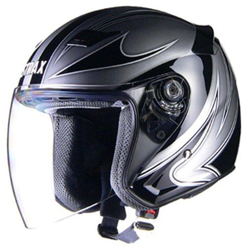 リード工業(LEAD) バイクヘルメット ジェット STRAX シルバー M SJ-9 -