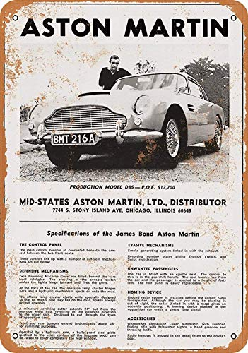 None Brand Aston Martin Tin Wall Sign Metal Vintage Signs Poster Iron Retro Painting Plaque Art Home Decor Yard Garden cafe Bar Pub WC Gift