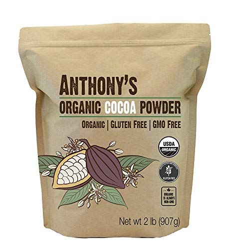 Anthony's Organic Cocoa Powder, Gluten Free & Non GMO, 2 Pound
