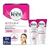 Veet Kit Crema Depilatoria Facial + Crema hidratante post-depilatoria para un acabado ptimo - 2 x 50...
