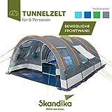 skandika Helsinki - Tente de Camping familiale Tunnel - 525 x 410 cm - 6...