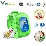 Winnes Montre connectée GPS pour enfant, support GPS / GPRS / SOS, traceur...