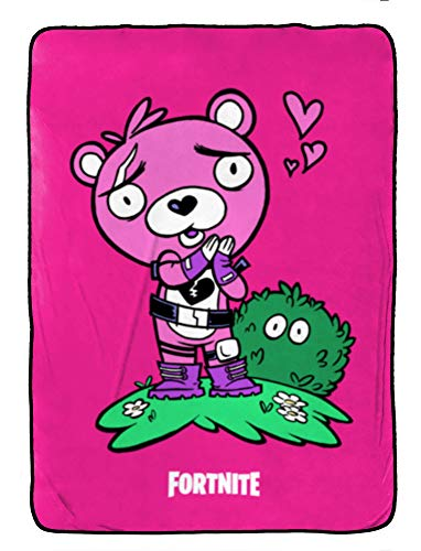 Fortnite Cuddle Team - Manta de Forro Polar para niños (62 x 90 Pulgadas), Resistente a la decoloración, Muy Suave, Producto Oficial