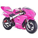 Superrio New Gas Mini Pocket Bike Motorcycle 40cc 4-Stroke Engine (Pink)