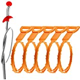Omont Drain Clog Remover Tool, 6 Pack Drain Hair Clog Remover Tool, Sink...