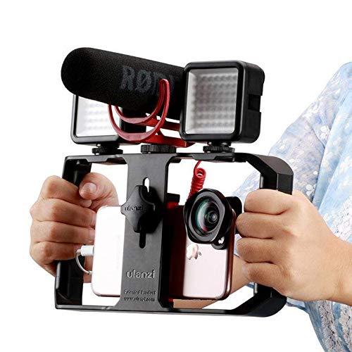 ULANZI u-rig Pro smartphone video Rig palmare iPhone Filmmaking gabbia con 3 Cold Shoe Mount Phone video stabilizzatore per video proiettore Videomaker per iphone 11 pro max x 8 7 Plus Samsung Xiaomi