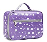 BLUEFAIRY Kids Insulated Lunch Bag for Little Girls Lunchbags Lunchbox for School Outdoor with Handle (Purple)