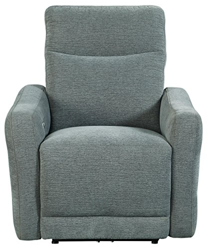 Homelegance Edition 34' Fabric Power Lay-Flat Power Recliner, Dove