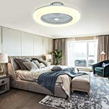 Ventilador de techo con iluminación LED, 36 W, ventilador de techo, regulable, con mando a distancia, 3 marchas, moderno ventilador de techo con lámpara LED