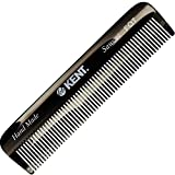 Kent A FOT Handmade Pocket Comb for Men, Graphite, All Fine Tooth Hair Comb Straightener for Everyday Grooming Styling Hair, Beard and Mustache, Use Wet or Dry, Saw Cut Hand Polished, Made in England