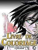 Livre de coloriage : 20 pages de mangas à colorier