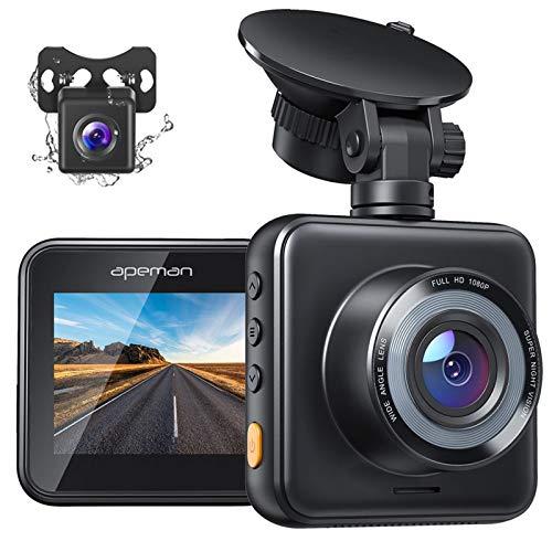 APEMAN Dashcam Vorne und Hinten Autokamera, 1080P FHD Mini Dual Lens...