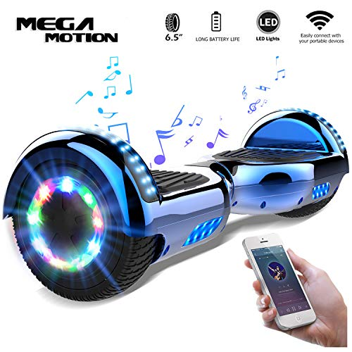 "Mega Motion Self Balance Scooter 6,5"" -2018 Elektro Scooter E-Skateboard- Scooter - UL zertifizierten 2272 LED - Räder mit LED Licht -Bluetooth Lautsprecher – 700W Motor"