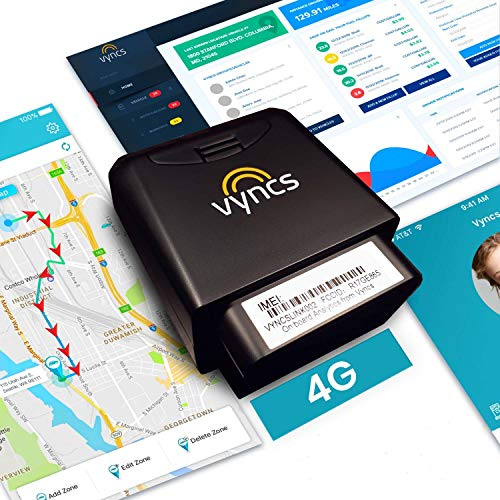 GPS Tracker for Vehicles Vyncs 4G LTE - No Monthly...