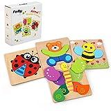 Felly Jouet Bebe - Puzzles en Bois, Jouets Montessori Enfant 1 2...