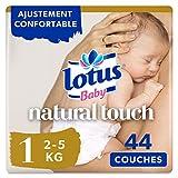 Lotus Baby Natural Touch - Couche Taille 1 (2-5 kg/Nouveau-Né) 1 paquet de...