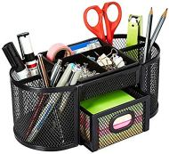 AmazonBasics - Organizador de escritorio, de malla, negro