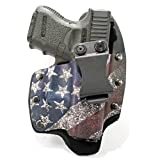 Infused Kydex USA Slanted Flag IWB Hybrid Concealed Carry Holster (Right-Hand, SCCY CPX 1,2)