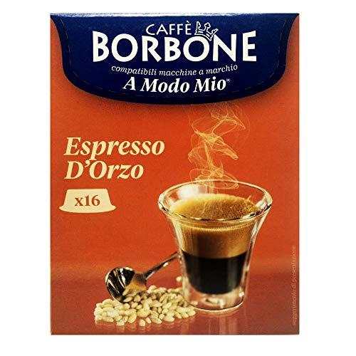 16 Capsule Caffè Borbone espresso orzo compatibili A Modo Mio