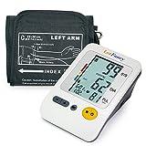 LotFancy Upper Arm Blood Pressure Monitor, 4-Users, 120 Memory, Fully Automatic Blood Pressure Monitor with Medium Cuff, Digital BP Meter with Large LCD Display, Storage Bag Included, FDA Certificate
