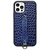 ハイブリッド ケース Gripタイプ iPhone 12 mini エンボスクロコ ブルー 【Ricky's】 iPh……