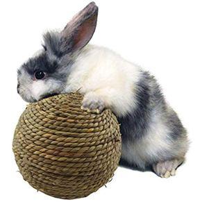 yingmu Juguete para Masticar Mascotas Bola de Hierba Natural Conejo Mascota pequeña para Masticar Dientes Limpieza…