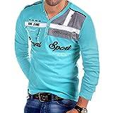 POachers Tee-Shirt à Manches Longues pour Hommes T-Shirt à Manches Longues en V à Manches Longues Impression Tee Shirt Col Tunisien Uni Henley Shirt und Boutonné Blouse Tops Hauts S-3XL