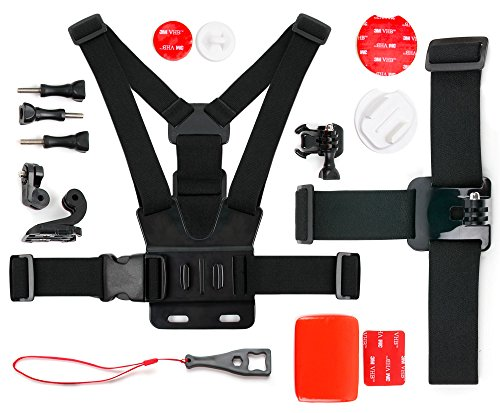 DURAGADGET Kit Accessori per Action Camera HDCool Action Cam 4K | Campark ACT76 | DBPOWER EX5000 | Elephone | HC8000 | HDCool | ICONNTECHS IT | SEGURO | Victure | YI | Yuntab - Alta qualità