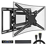 JUSTSTONE Full Motion TV Wall Mount Bracket for 28-70 Inch LED LCD Plasma Flat Screen & Curved TVs...