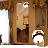 Wall-Mounted Full Length Wall Mirror 18 in x 57 in Dressing Mirror Full Size Large Floor Mirror Glass Panel Rectangular Frameless Mirror for Bedroom Bathroom Living Room Wall Décor (A-D001)