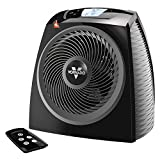 Vornado TAVH10 Electric Space Heater with Adjustable Thermostat, Auto Climate Control, 2 Heat Settings, 12-Hour Timer, Remote, Advanced Safety Features, Black