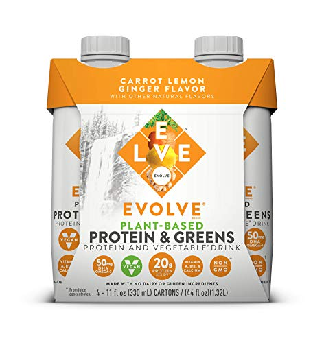 Evolve Plant-Based Protein & Greens, Carrot Lemon Ginger, 11...
