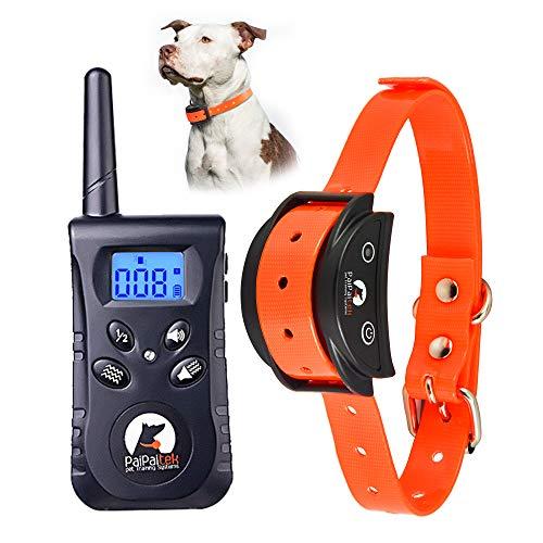 Paipaitek Schock Sicher Dog Training Halsband Wiederaufladbar Wasserdicht, Orange