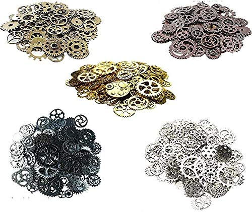 Awtlife 300 Gram Assorted Vintage Antique Steampunk Gears Ch