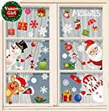 Yuson Girl Décoration Noël Sticker Autocollants de Fenêtre Verre Murale Muraux pour Noel Déco