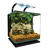 Marineland Contour 3 aquarium Kit 3 Gallons, Rounded Glass Corners, Includes LED Lighting