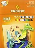 Canson Kids Papier couleur 24 x 32 cm 10 feuilles Multicolore