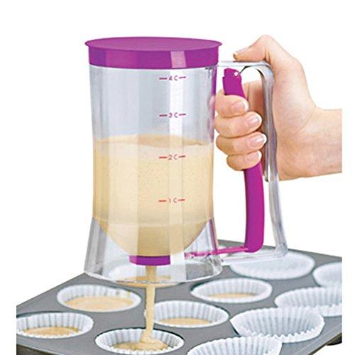 BESTOMZ Dosatore per Pastella Pancake Distributore di Cottura Strumento con Guida di Misurazione